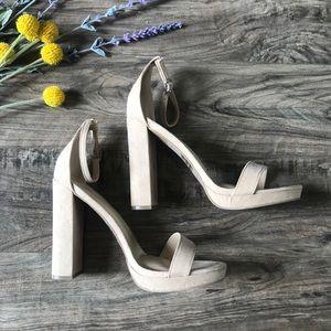 NWT Fashion Nova nude Heels | Size 7.5